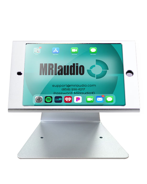 iPad Mini Locking Mount MRIaudio Sound Systems