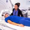 MRIview with patient in GE MRI machine