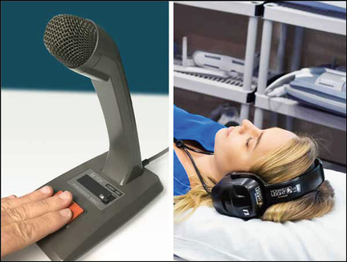 MRIaudio technologist microphone