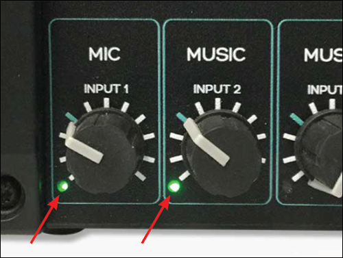 MRIaudio amplifier volume knobs